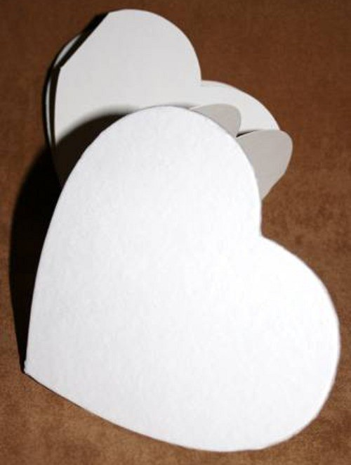 Rozkládací album Srdce bílé 15 x 13,5 cm