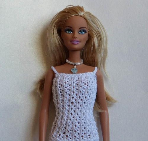 Šperk pro Barbie - světle modré srdce
