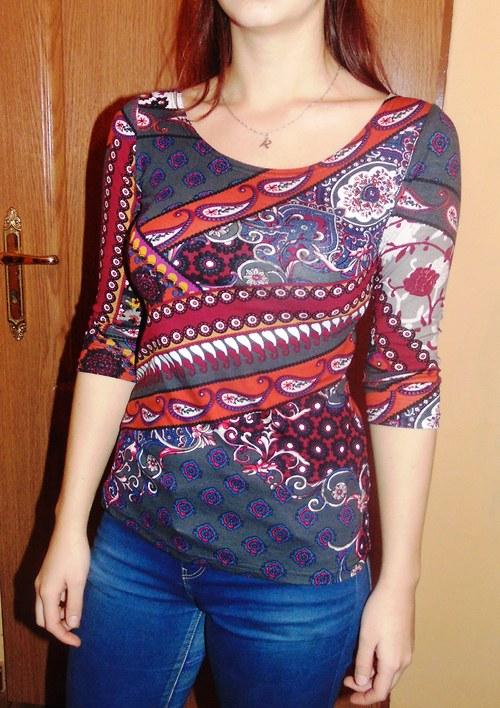 tričko kašmírový vzor-2 barvy
