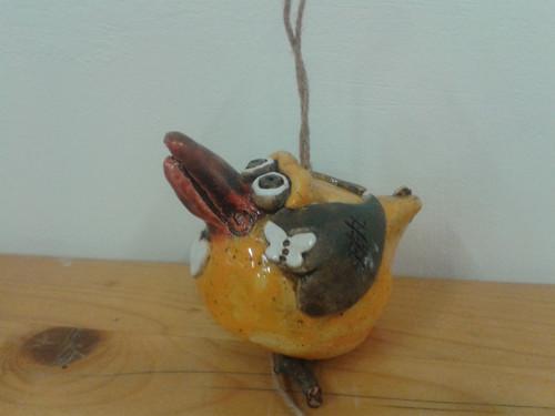závěsný keramický ptáček