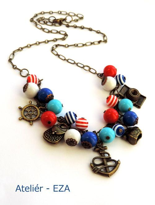 Námořnický náhrdelník pro cestovatelky - do sady