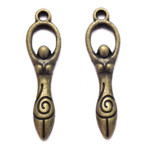 Bronzový přívěsek - ethno postavička, 4 kusy
