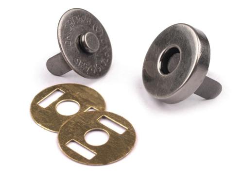 Magnetické zapínání Ø14mm (5sad) - antik