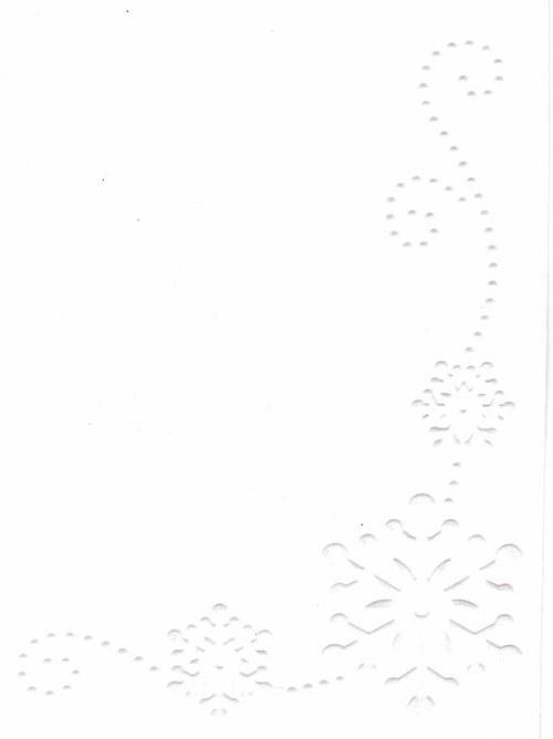 Embosovaná čtvrtka A6 - vločka krajová bílá