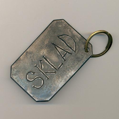 kovaná cedulka nejen na klíče