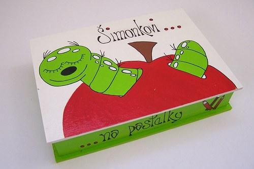 červík  - malovaná krabička