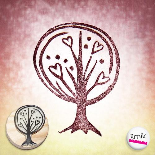 strom láskovník - razítko