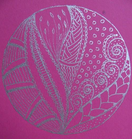 Přáníčko Mandala Zentangle Style