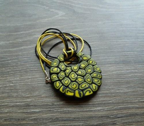 Černo-žlutý náhrdelník