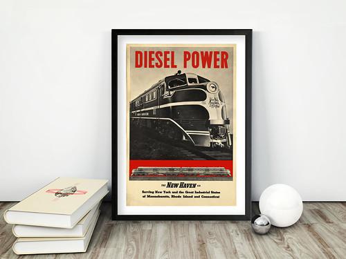 Vintage plakát Diesel Power