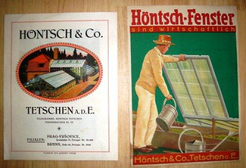 Skleníky - katalog a plakát 1920