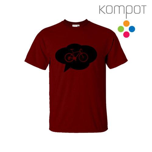 Pánské tričko s KOLEM :: Vínové vel. S-2XL