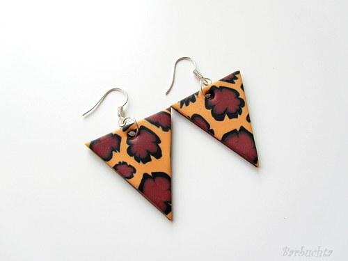 Náušnice Safari trojúhelníky
