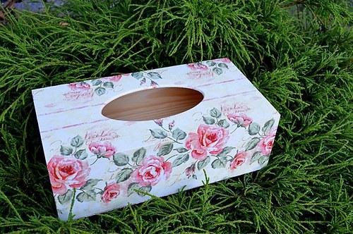 Krabička na kapesníky - růže bordura