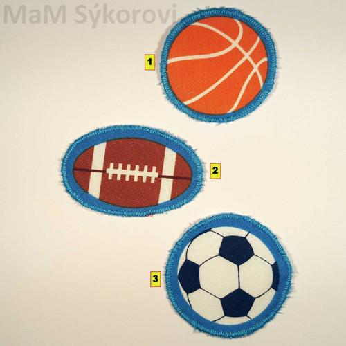 Nažehlovací záplata míče různé :)