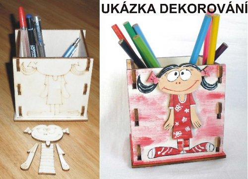 TP3DO125 - Krabička na tužky HOLČIČKA 11,5x12x9cm