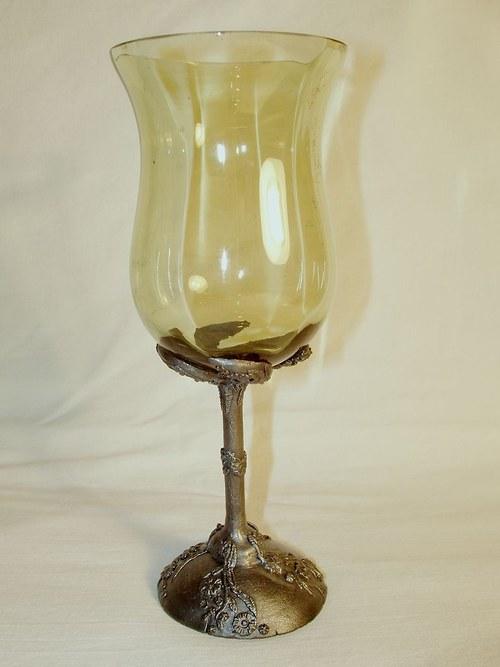 sklenice na víno - s motivem kvítků
