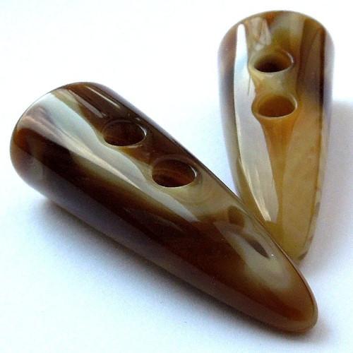 Knoflík Medový, karamelový kel melírovaný 50 mm