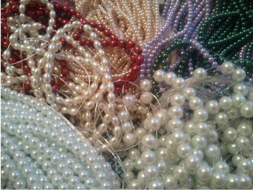 Perly voskované - krémové (30 ks)