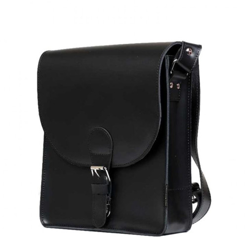 Pánská černá kožená taška