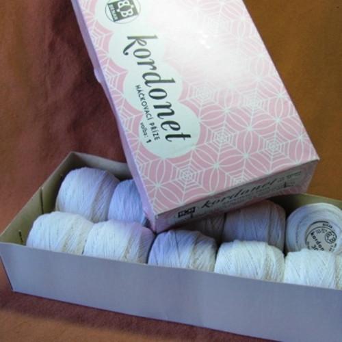 Kordonet - háčkovací bavlnka bílá
