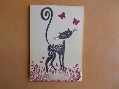 Magnetická záložka do knihy-kočka