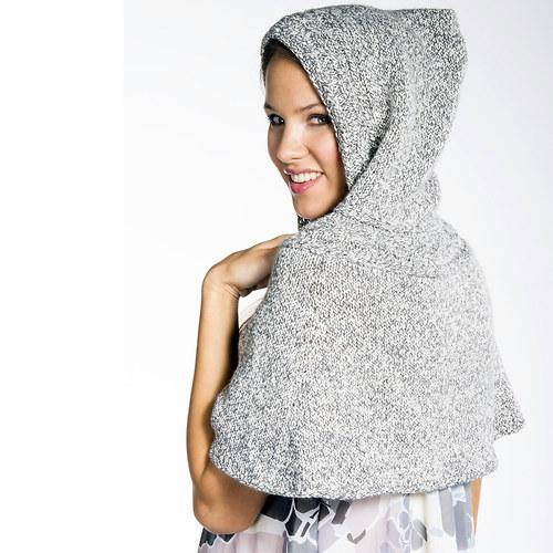 popis - návod na pletenou pelerínu