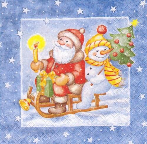 Ubrousek - santa a sněhulák