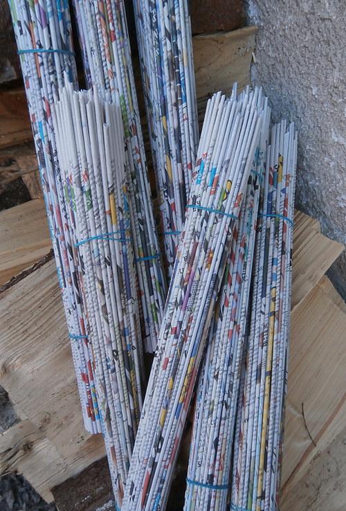 Papírové ruličky s potiskem - 100 ks (plus 10 ks)