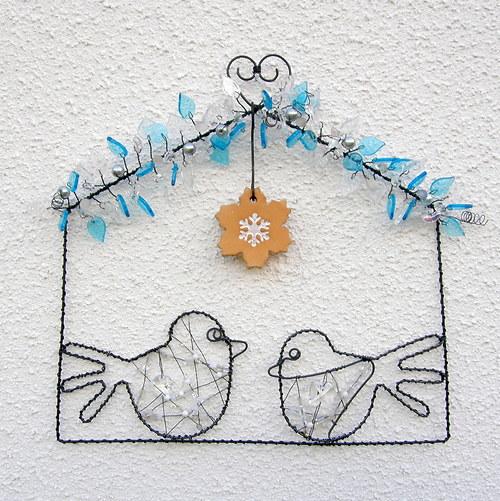Drátovaný obrázek Ptačí zpěv