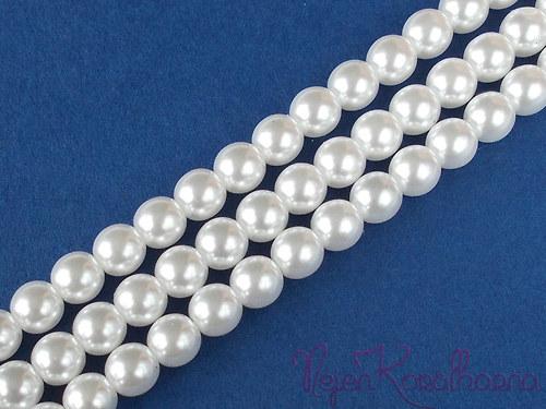 Voskové perle bílá 8mm