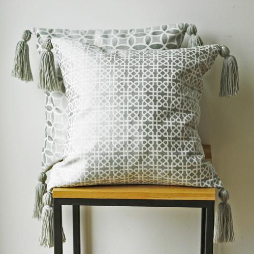 Povlak na polštář se střapci - vzor ornament