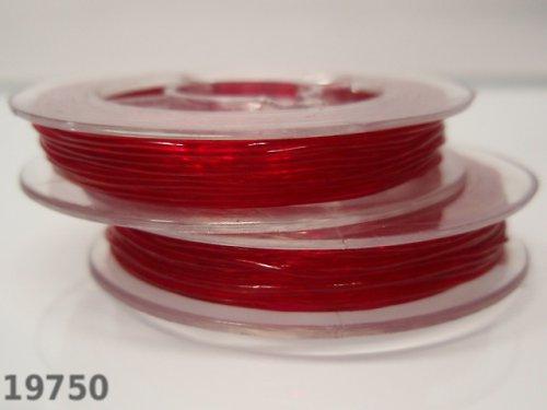 19750-B10 Elastické lanko lycra 0,6/10m červené