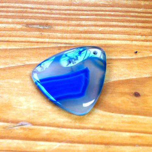 Přívěšek 4,5cm - Modrý Achát