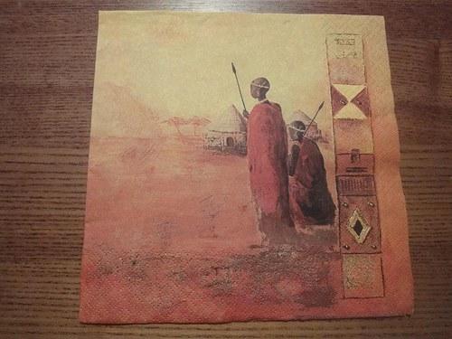 Ubrousek na decoupage - Masajové