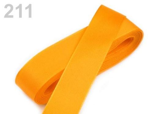 10 m taftové stuhy, barva světle oranžová
