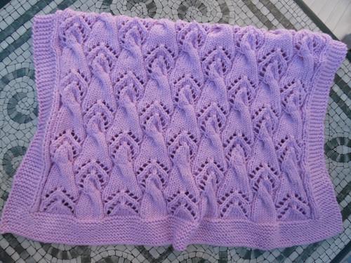 Lehká deka Pomněnka pastelová fialková V.
