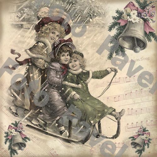 Vintage motiv - vánoce 29