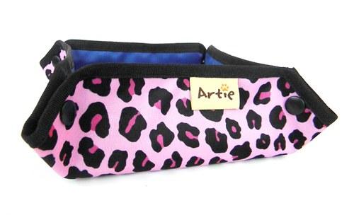 Cestovní miska - růžový leopard