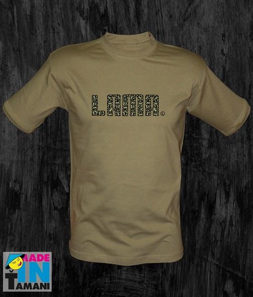 Pánské khaki tričko Lama 04