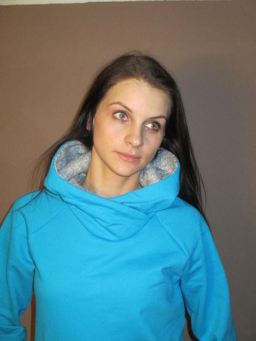 dámská mikina - tyrkysová