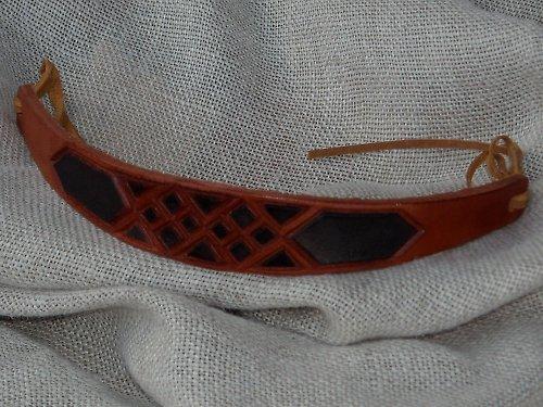 Náramek kožený řezaný 5