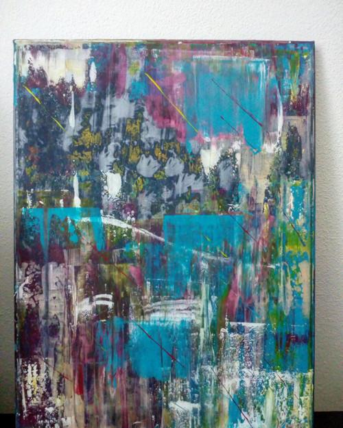 Abstraktní malba - prostorový obraz