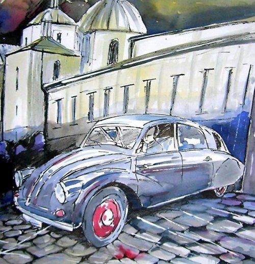 Akvarel 594 x 841 mm / Olomouc Tatra 97 / 1937