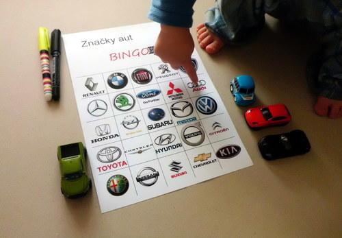 Značky aut. Bingo. Hra na cestu autem. jpg