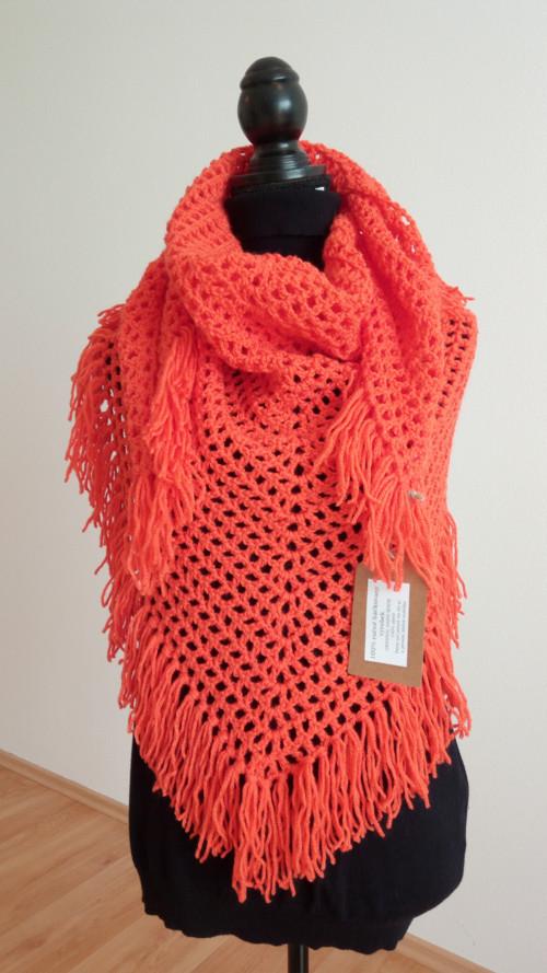 Háčkovaný šátek  Orange