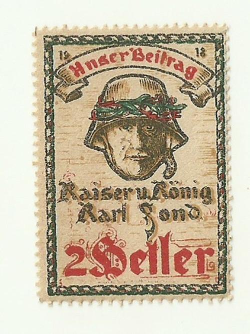 Zálepka válka válečná 1918, voják s helmou