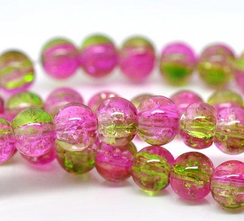 práskačky zeleno-růžové 6mm/10ks
