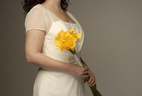 Žluté kaly -svatební žezlo