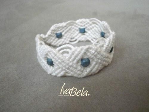 Náramek Klasika s modrými korálky